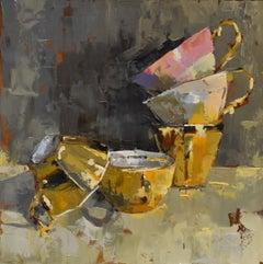 Pink rules - Ans Debije Dutch Realist Impressionist