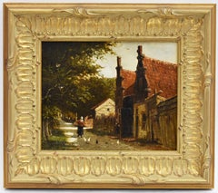 J.J. Mittertreiner, A village street on the edge of the forest,  Romanticism