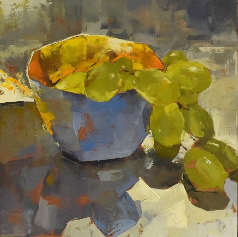Ans Debije - Grape escape - Impressionism - Dutch - Modern Painting by Ans Debije