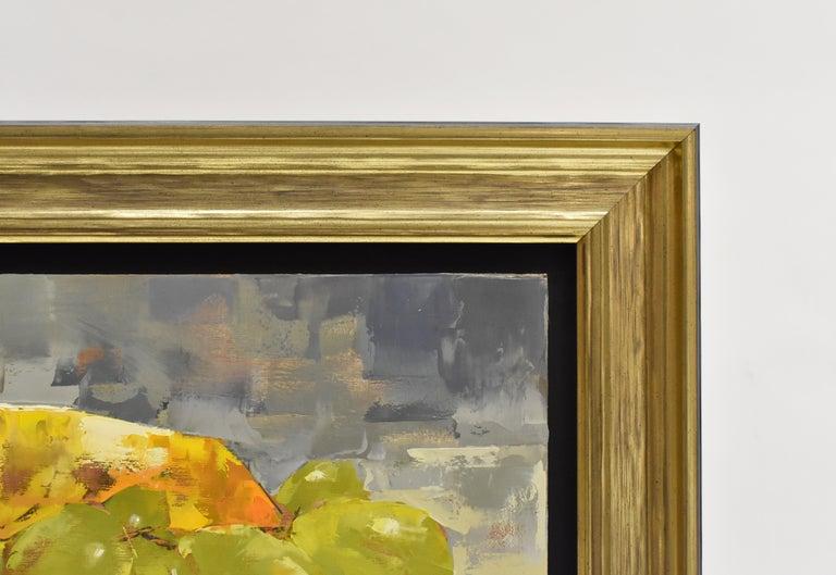Ans Debije - Grape escape - Impressionism - Dutch - Brown Still-Life Painting by Ans Debije