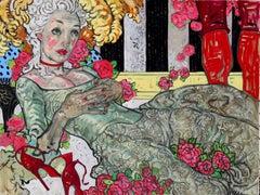 The Birdcage II, Oil on Canvas, Figurative Art, Mythology, Signed