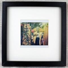 Grandma's Roses, Photography, Polaroid, Figurative Art, Vintage frame, Signed