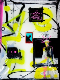 Create Your Own Myths I, Photography, Acrylic Paint, Spray Paint, Canvas, Signed