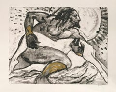 Kissed by the Sun, Monotype, Work on Paper. Figurative Art, Nude, Signed