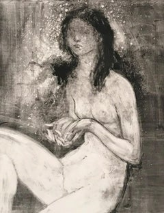 My Stars, Monotype, Work on Paper, Female Nude, Signed