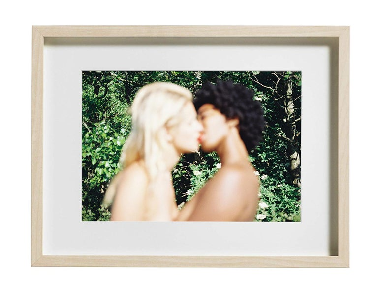 Dreams of Paradise, Color Photography, Kissing, Signed, Framed For Sale 1