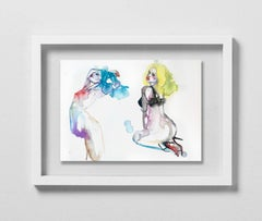 INCIDENTS CRIMINELLES, Watercolor, Painting, Figurative, Nude, Signed, Framed