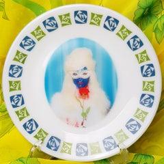 Mae West No 3, Ceramic Plate, Vintage China, Photo Transfer, Signed