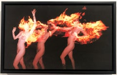 Walks With Fire, Color Photography, Nude, Figurative Art, Signed, Framed