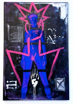 Alter Ego, Painting, Mixed Media, Photo, Acrylic, Spray Paint on Canvas, Signed