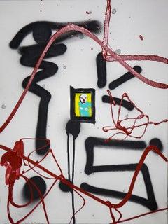 Create Your Own Myths III, Photography, Acrylic and Spray Paint, Canvas, Signed