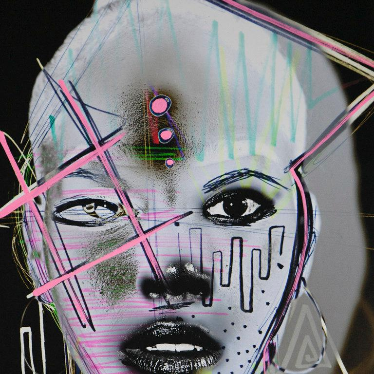 Artwork includes custom hand painted frame by the artist.   Nichole Washington is a visual artist who is becoming known for her mixed media artworks exploring feminine strength, spirituality and identity. In 2016 she graduated from School of Visual