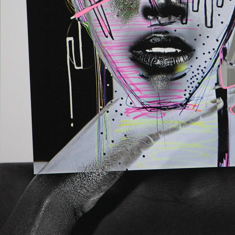 Love Guard, Archival Ink Print with Gouache Hand Painted Details, Signed For Sale 1