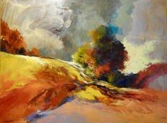 """Close of Day"" Expressionist Horizon Landscape"