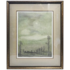 Tree Scene Watercolor Signed by Lancaster