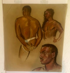 Robert H. Whitmore Black Male Nude Portrait
