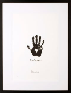 Hand of Africa - Mandela, Former South African President, Signed Artwork, Hand