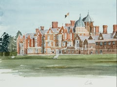 Sandringham - Signed Lithograph, Royal Art, Royal Homes, Sandringham House