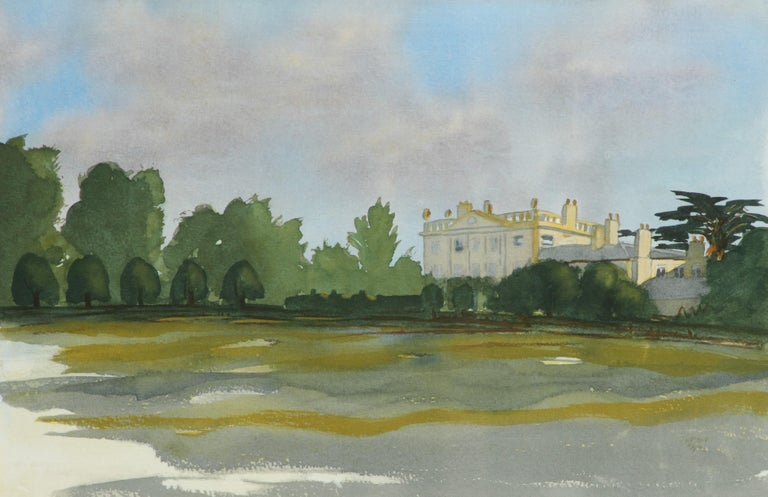 HRH Prince Charles, The Prince of Wales Landscape Print - Highgrove - Signed Lithograph, Royal Art, Royal Homes, Highgrove House, British