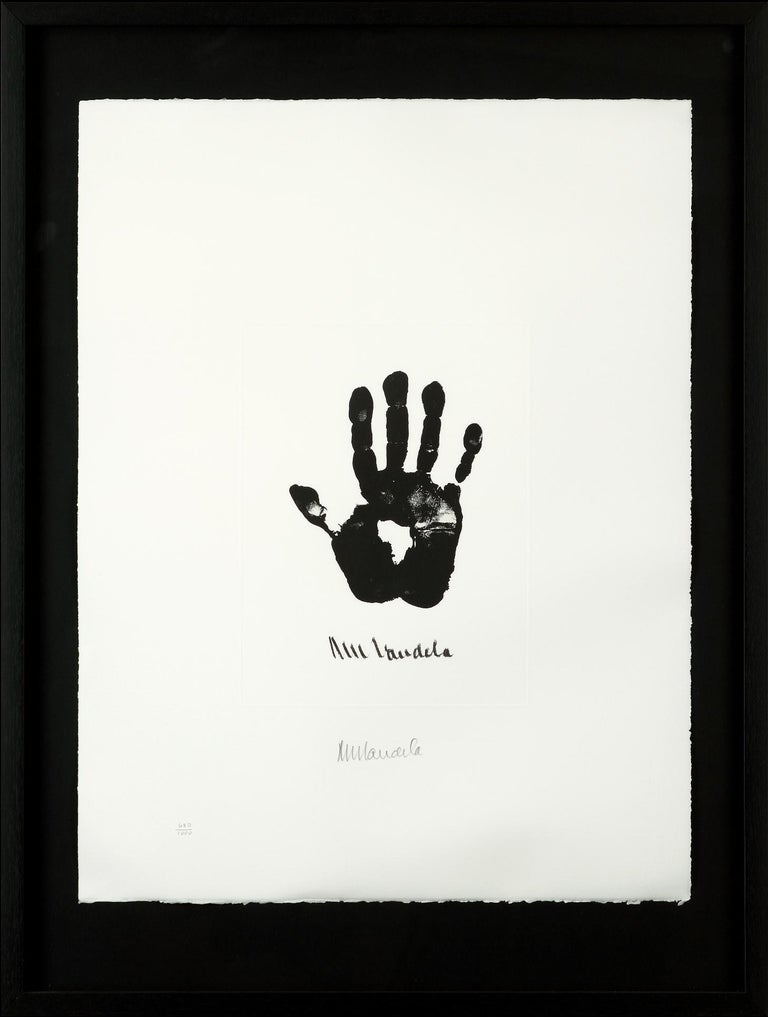 Hand of Africa - Mandela, Former South African President, Signed Artwork, Hand - Contemporary Print by Nelson Mandela