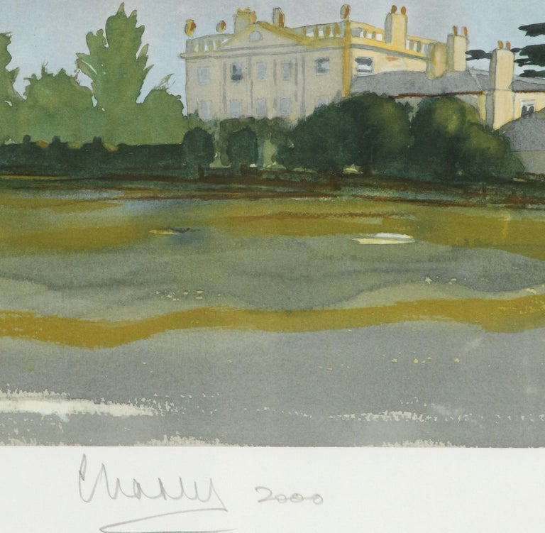 Highgrove - Signed Lithograph, Royal Art, Royal Homes, Highgrove House, British - Print by HRH Prince Charles, The Prince of Wales