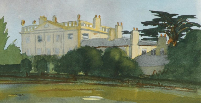 Highgrove - Signed Lithograph, Royal Art, Royal Homes, Highgrove House, British - Academic Print by HRH Prince Charles, The Prince of Wales