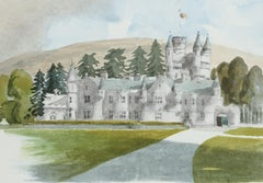 Balmoral - Signed Lithograph, Royal Art, Royal Homes, Balmoral Castle, British