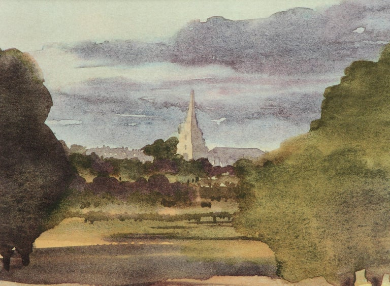 HRH Prince Charles, The Prince of Wales Landscape Print - Tetbury Church - Signed Lithograph, Royal Art, Royal Heritage,Cotswolds, British