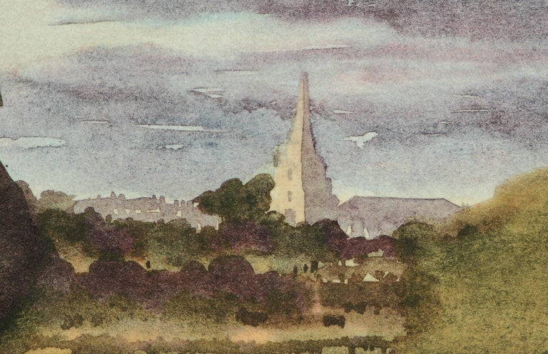 Tetbury Church - Signed Lithograph, Royal Art, Royal Heritage,Cotswolds, British - Print by HRH Prince Charles, The Prince of Wales