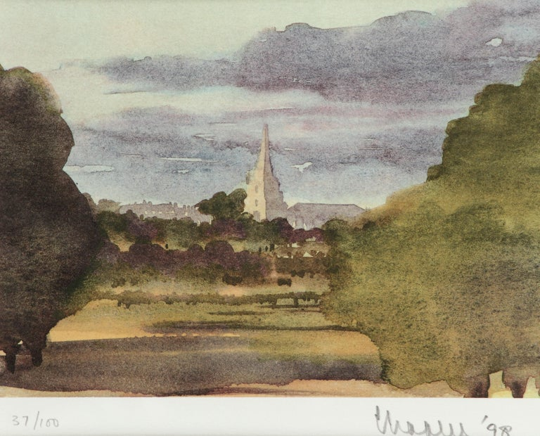 Tetbury Church - Signed Lithograph, Royal Art, Royal Heritage,Cotswolds, British - Academic Print by HRH Prince Charles, The Prince of Wales