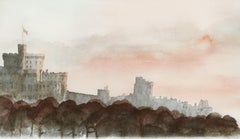 Windsor Castle North Aspect - Signed Lithograph, Royal Art, Royal Home, British