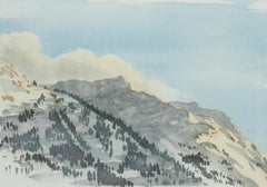 Klosters - Signed Lithograph, Royal Art, Switzerland, Mountains, Hüreli, Skiing