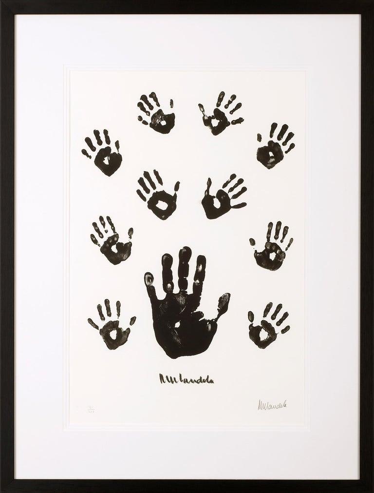 Nelson Mandela Figurative Print - Impressions of Africa - Mandela, Former South African President, Signed Artwork