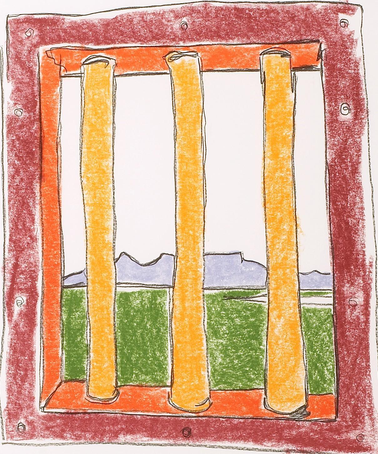 The Window - Mandela, Former South African President, Signed Art, Robben Island