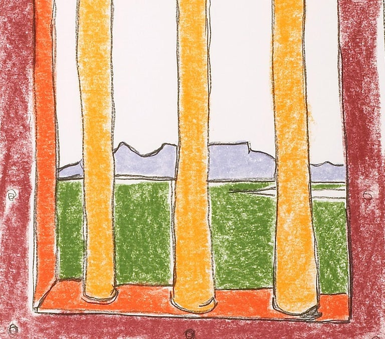 The Window - Mandela, Former South African President, Signed Art, Robben Island - Contemporary Print by Nelson Mandela