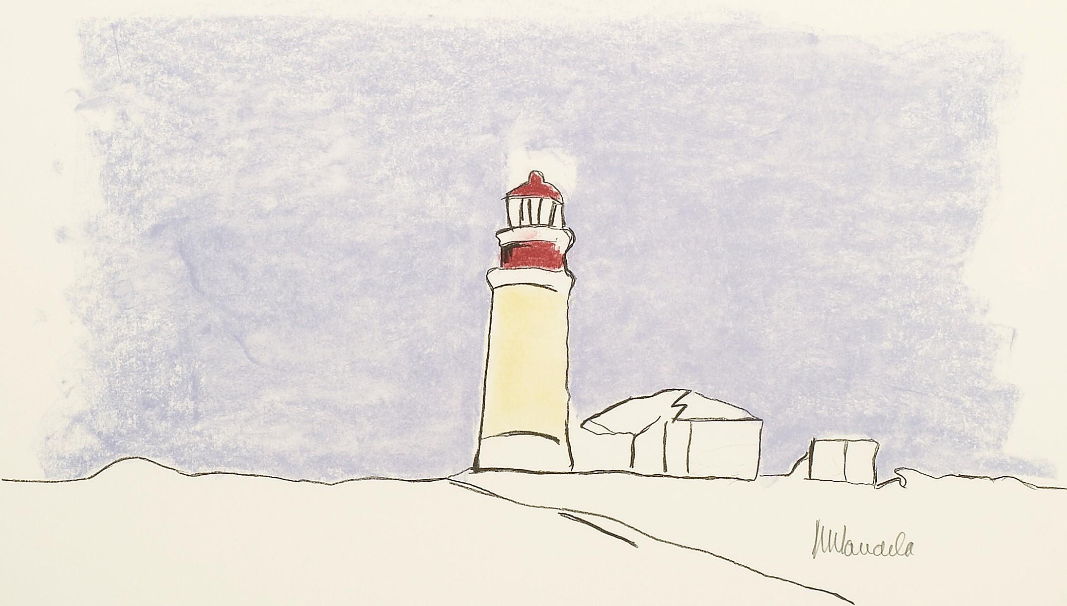 The Lighthouse - Mandela, Former South African President, Signed, Robben Island
