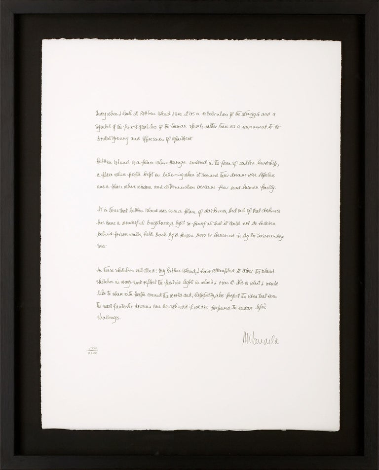 Artist Motivation - Mandela, Former South African President, Inspirational Words - Print by Nelson Mandela