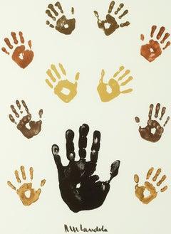 Impressions of Africa: Colour - Mandela, Former South African President, Signed