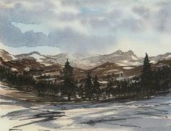 Balmoral Winter Scene - Signed Lithograph, Royal Art, Scotland, Season,Landscape