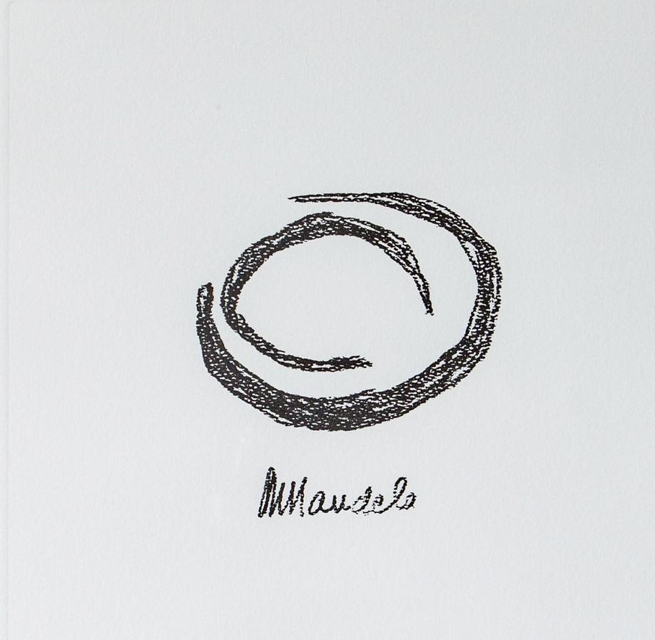 EARTH - Mandela, Former South African President, Signed Art, Symbol, Crescent