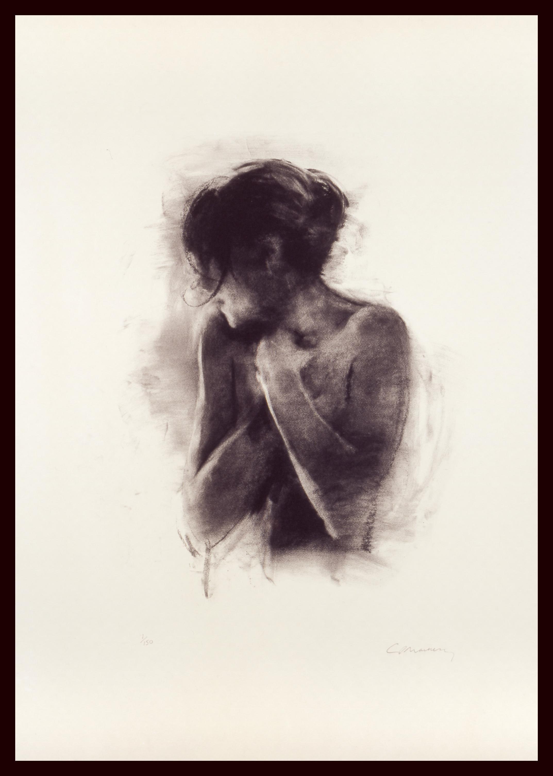 Antonia - Limited Edition, Figurative, Contemporary, semi-nude, female, feminine