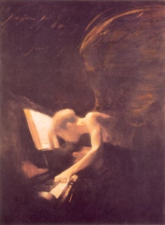 Angel & Piano- Limited Edition, Figurative, Contemporary, Faith, Music, Angels