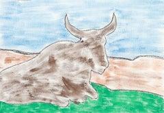 Madiba's Nguni Bull I - Mandela, Former South African President, Original Art
