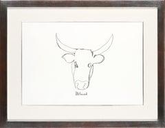 Madiba's Nguni Bull II - Mandela, Former South African President, Original Art