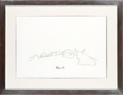 Qunu Landscape with Nguni Cow - Nelson Mandela, Former President, Original Art