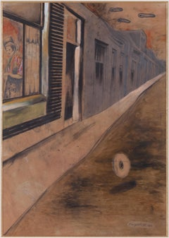 Dream Street - Contemporary, Surrealism, Mix media, Late 20th Century