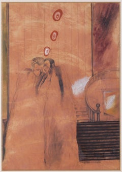 The Secret - Contemporary, Surrealism, Mix media, Late 20th Century