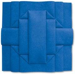 Durchdringung III FBLC6 (8) - Contemporary, Felt, Blue, Peter Weber, 21st C.