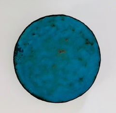 Skin - Contemporary, 21st C., Enamel on Copper, Circular, Turquoise