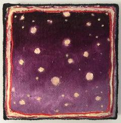 Twisted Stars VIII - Contemporary, Oil on Felt, Night Sky, Stars, 21st C.